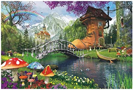 MOWE 1000 Piece Famous Scenery Jigsaw Puzzle for Kids Adult, Tower Bridge Large Puzzle Game Toys Gift (A, 29.53 x 19.69inch)