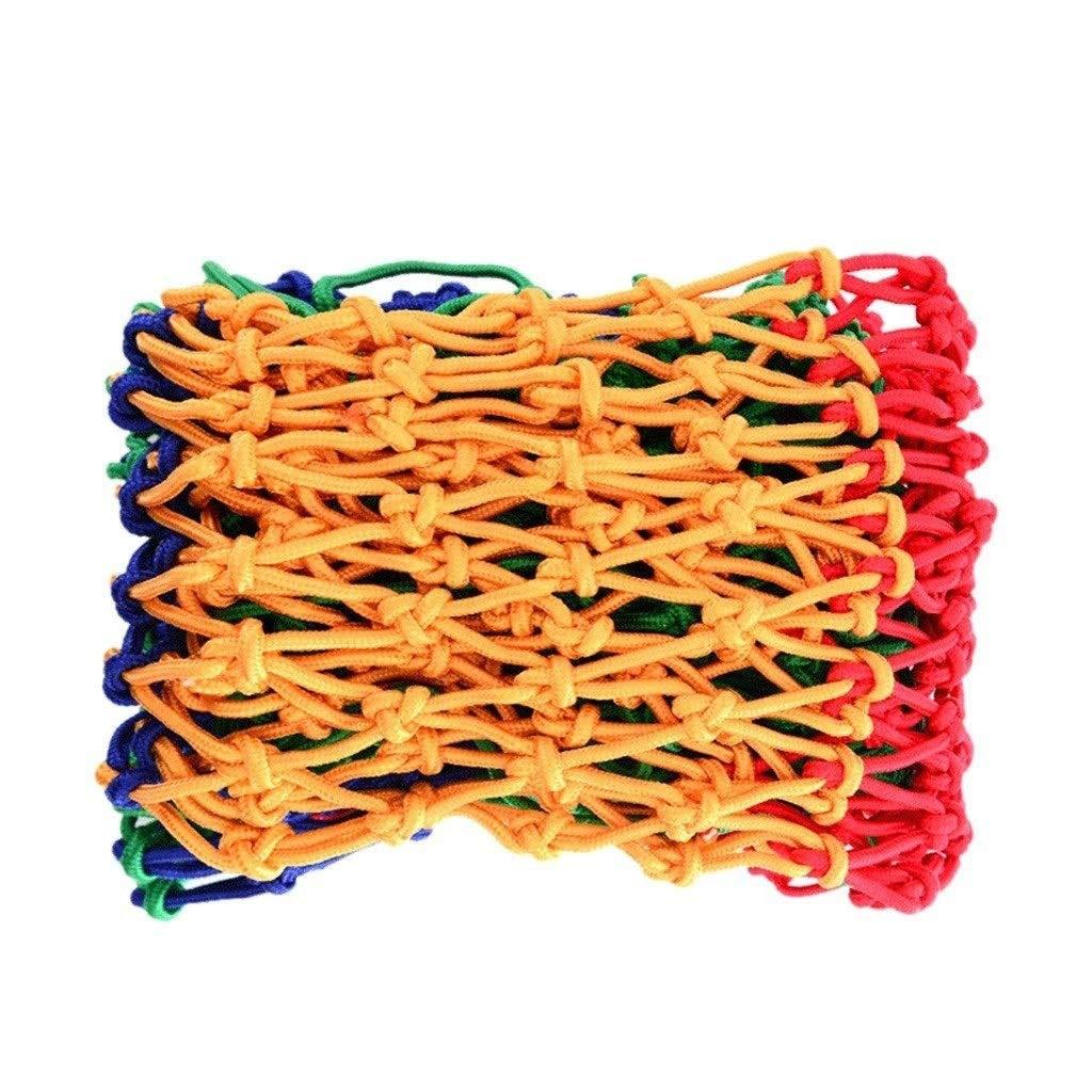 14m ZGQSW Couleur Corde Net, Filet De Sécurité Enfant Décoration Net Prougeection Filet Escaliers Anti-Chute Corde Net Clôture Net Chat Net Tissage Main Swing Net Escalade 3m4m (Taille   1  5m)