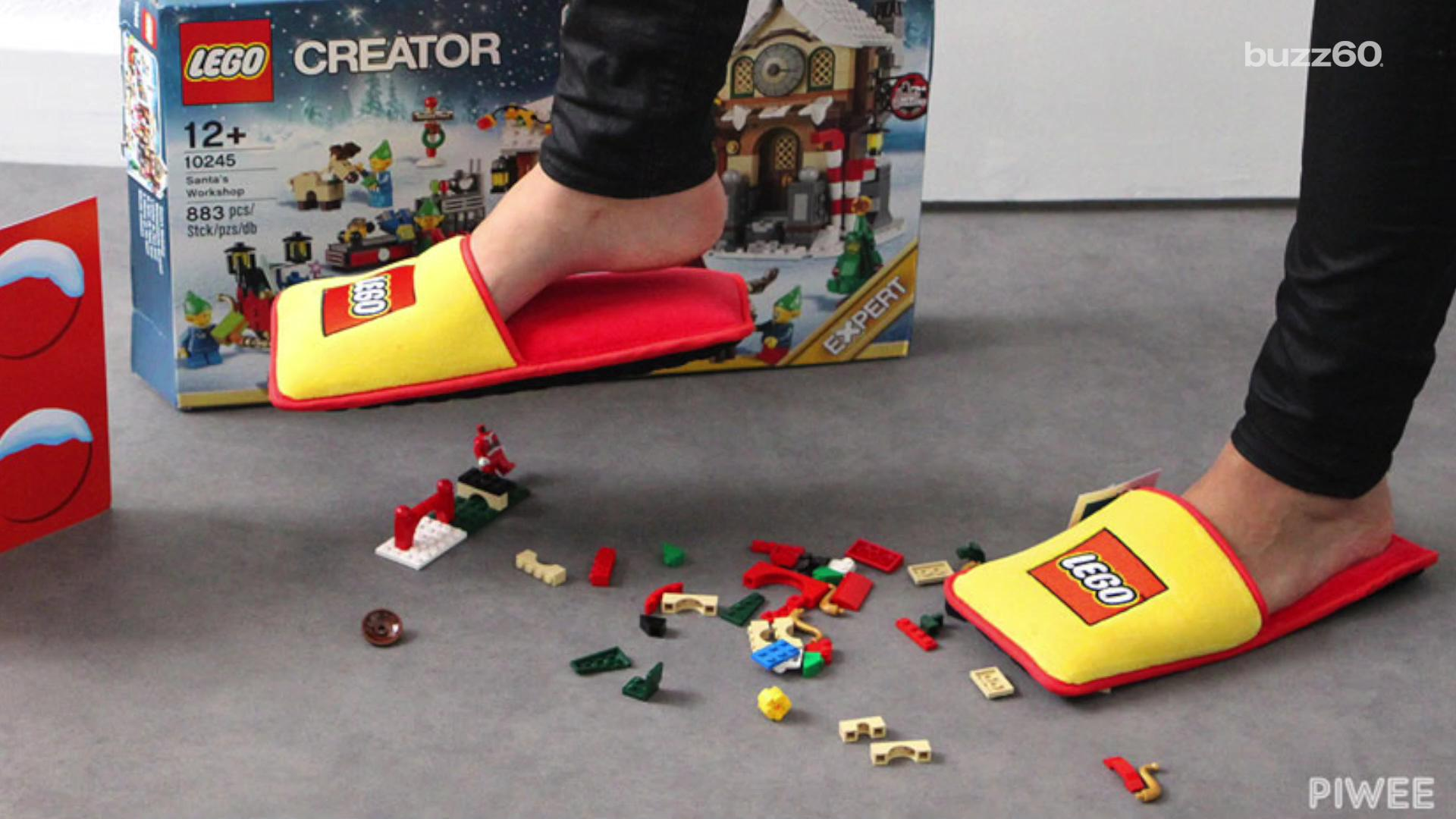 Lego Finally Makes Slippers To Protect Parents Feet