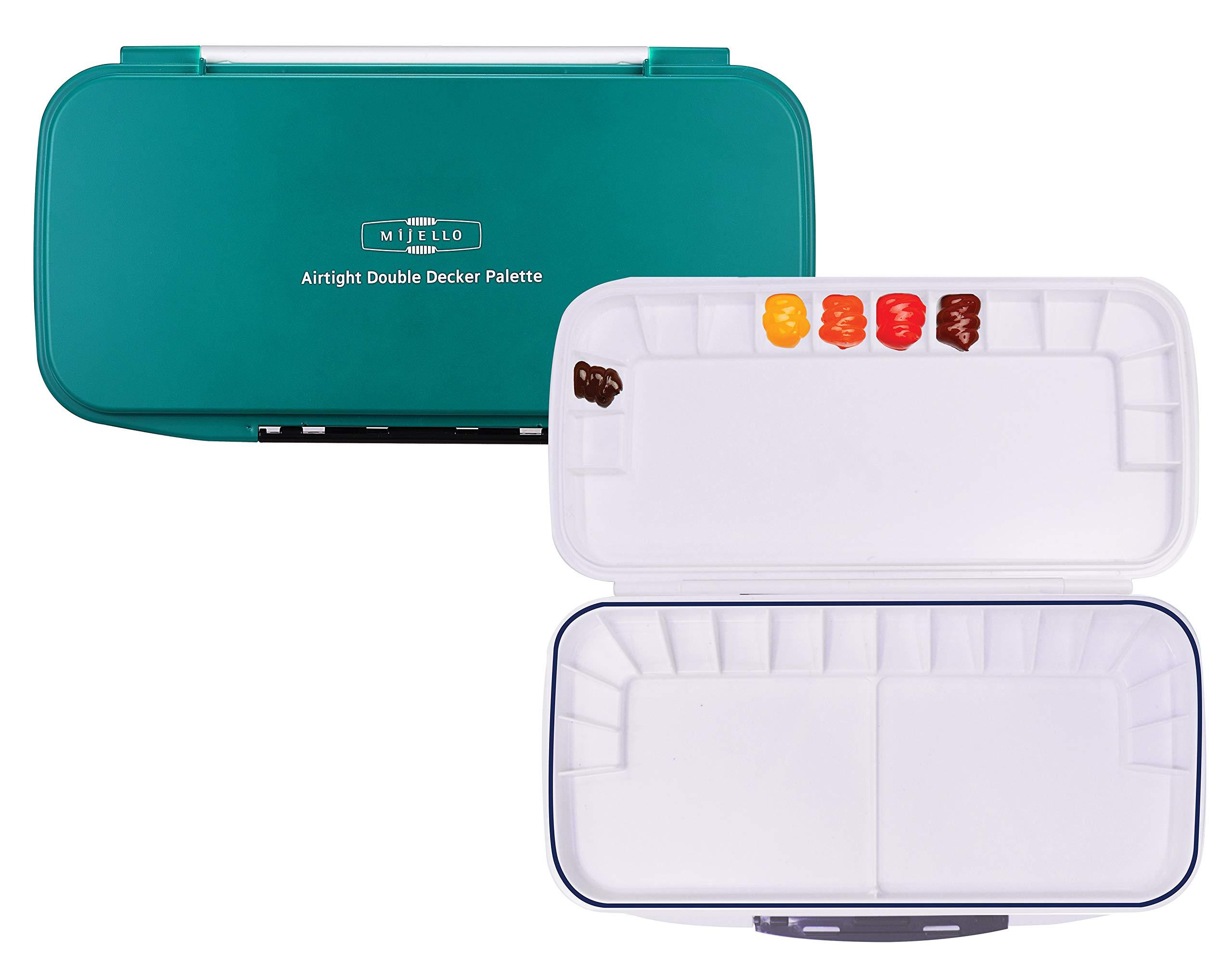 Mijello Watercolour Palette MWP-1630 Airtight Double Decker 30 Wells 335x175x30mm (13.18 x 6.88 x 1.18 inch) by Mijello