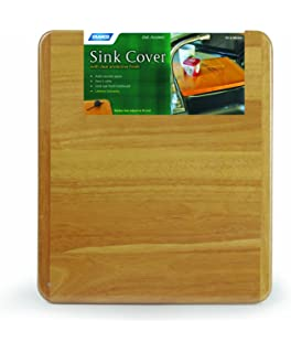 Camco Oak Accents RV Sink Cover  Adds Additional Counter And Cooking Space  In Your Camper