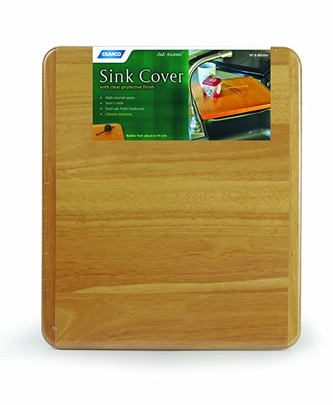 Amazon Com Camco Oak Accents Rv Sink Cover Adds Additional Counter