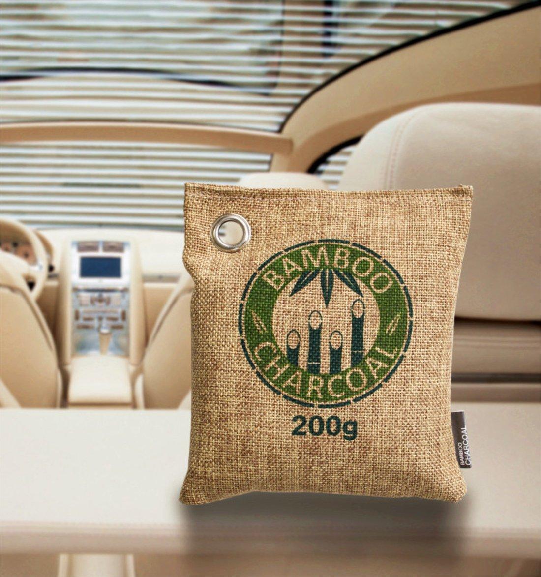 d62844702b9d Clarastar Bamboo Charcoal Jute Bag for Air Freshener, Fridge Freshener  Deodorizer and Moisture Absorbent (200g, Brown): Amazon.in: Home & Kitchen