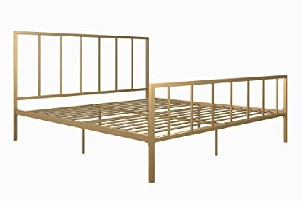 Amazon Com Stylish Modern Design Sturdy Metalframe Bed Iron Slats