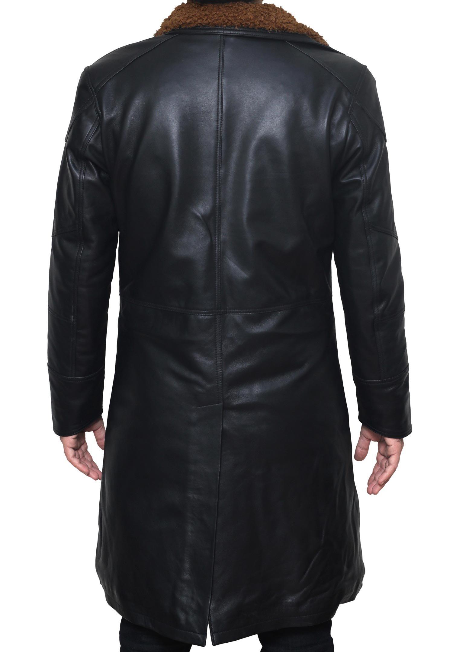 BlingSoul Blade Fur Coat Men Costume - Boys Black Leather Coat (XL) [PU-BLRN-BL-XL] by BlingSoul (Image #4)