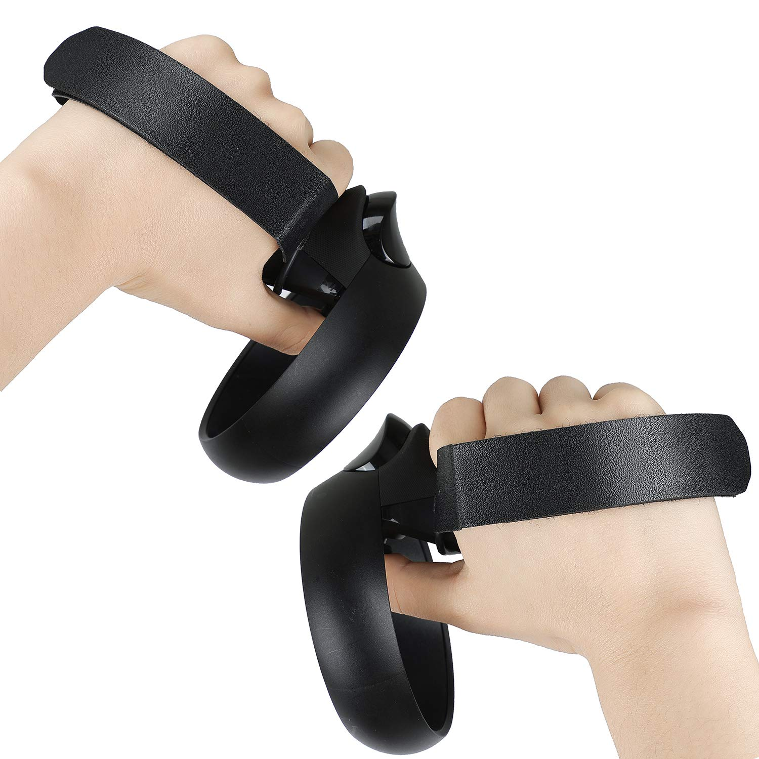 Black Premium Gel Shell Silicone Grip Covers for Oculus Rift S Traction Diamonds Skin Set Esimen Skin Cover for Oculus Quest Controller