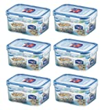 6 x Lock & Lock Rect 470ml Food Container HPL807