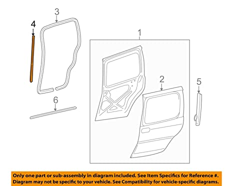 amazon com genuine gm 15889122 door edge guard, front automotive