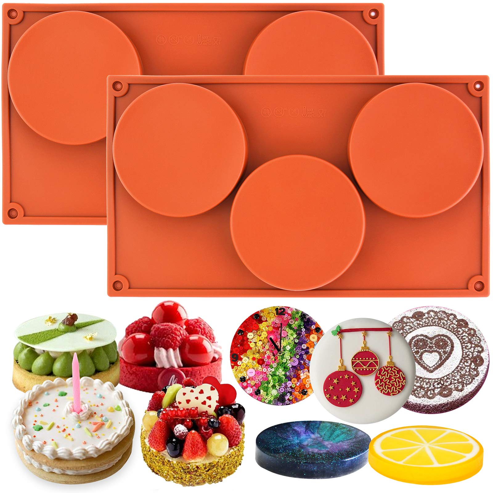 Funshowcase 3-Cavity Large Round Disc Candy Silicone Mold