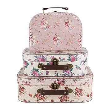 Set of vintage rose suitcases storage boxes garden jpg 355x355 Storage  suitcase 3b71b2eae71c4