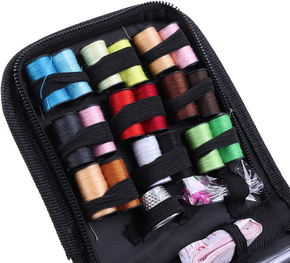 Traveller and Emergency Clothing Fixes Premium Sewing Supplies Portable Mini Sew Kits for Beginner Sewing Kit DIY Sewing Supplies with Sewing Accessories