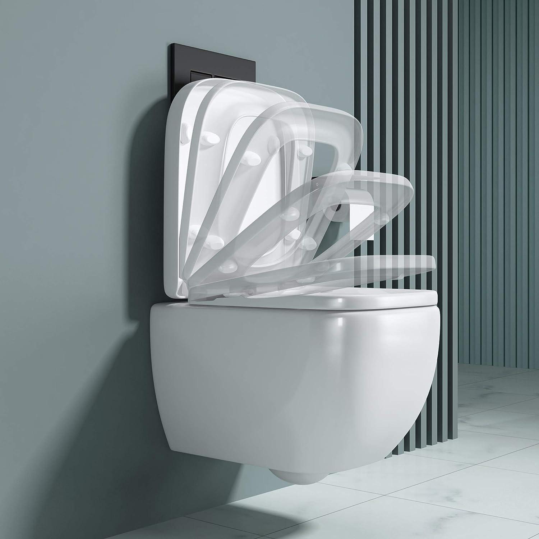 Festnight Toilette Murale avec r/éservoir cach/é Design d/'/œuf Noir
