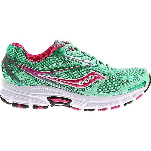 Saucony Cohesion 8 W - Zapatillas de Running para Mujer, Color Verde/Rosa/Blanco, Talla 41: Amazon.es: Zapatos y complementos