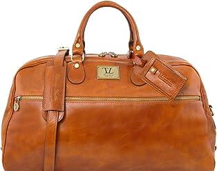 e92708e573 Tuscany Leather TL Voyager Borsa da viaggio in pelle - Misura grande Miele