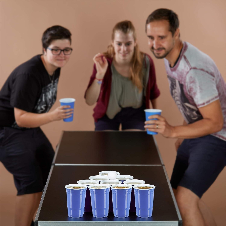 Blu 200x Set Bicchieri da Beer Pong Party Accessori Feste Rosso Bevande 16 oz//473 ml Gioco Alcolico