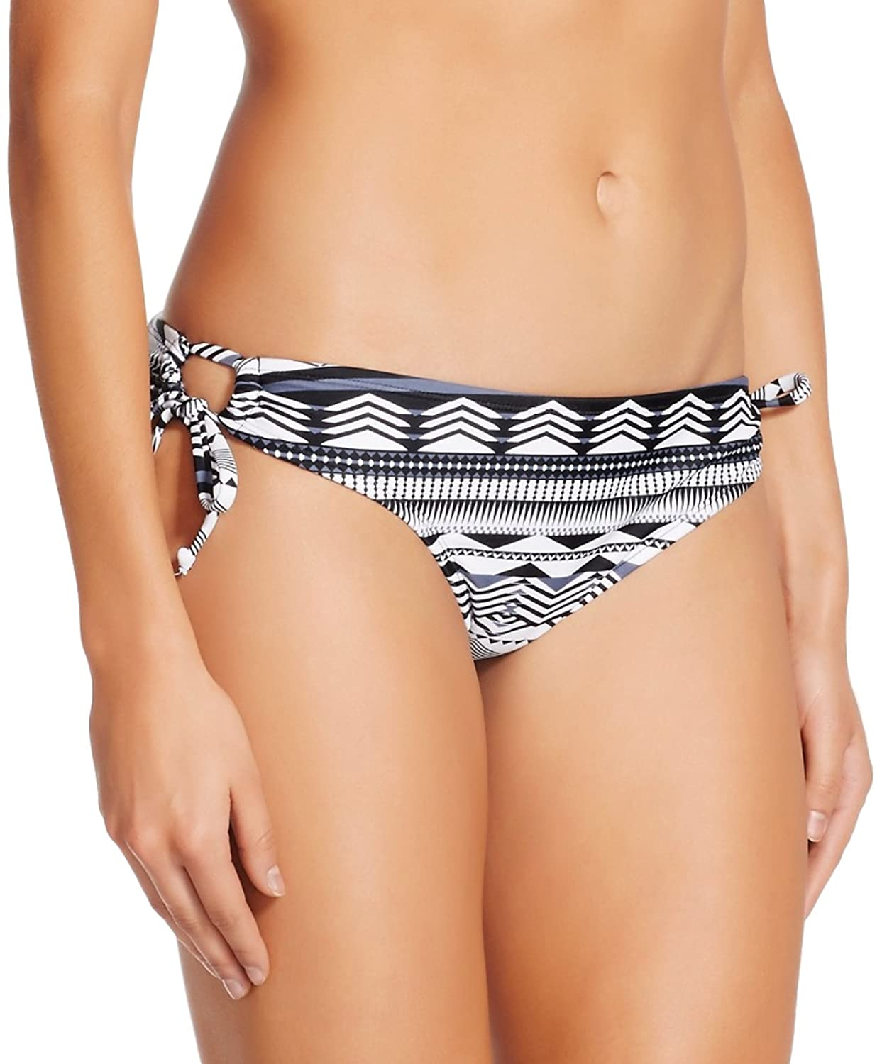 マスクされたブランドMossimoレディースKeyhole文字列Hipster Bikini Bottom B072DSHXN3 XL|Black/White Chevron Print
