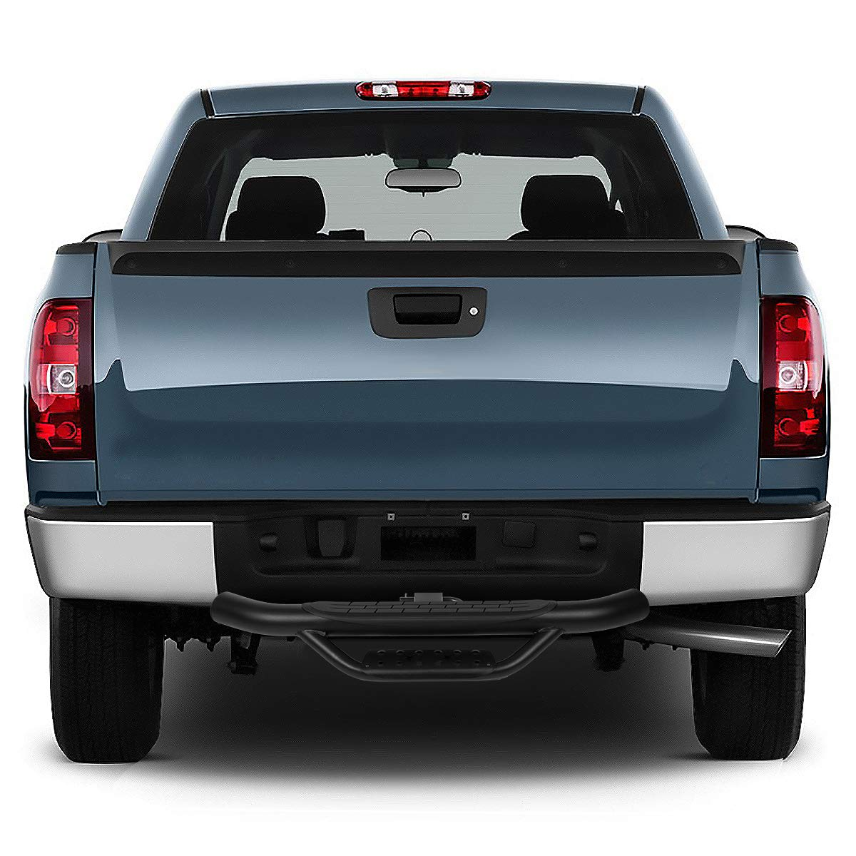 x 4 inches OD Powdercoated Steel 2 inchesReceiver Trailer Truck Towing Hitch Step Bar Rear Bumper Guard W Universal 36