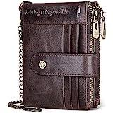 REETEE Carteras para Hombre Billetera de Piel con RFID Bloqueo Billeteras Hombre y Monedero con Cremallera, Monedero…
