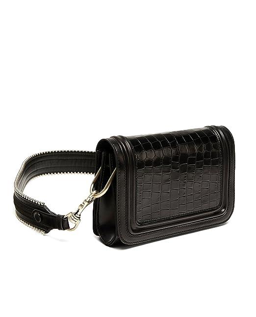 Zara - Bolso mochila de piel para mujer Negro negro Medium: Amazon.es: Ropa y accesorios