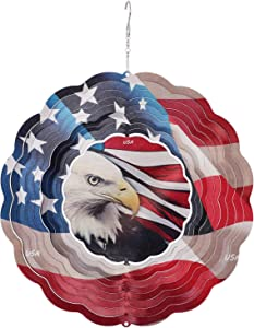 UTDKLPBXAQ Hanging Wind Chime, American Flag Wind Chime Independence Day Mobile Bell Windchime for Garden Lawn Yard Patio Metal Hanging Home Outdoor Decor, 11.790.01inch