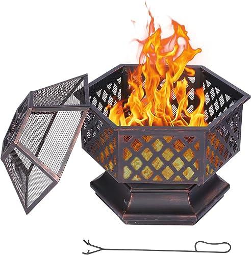 SEGMART 24.6'' Fire Pit