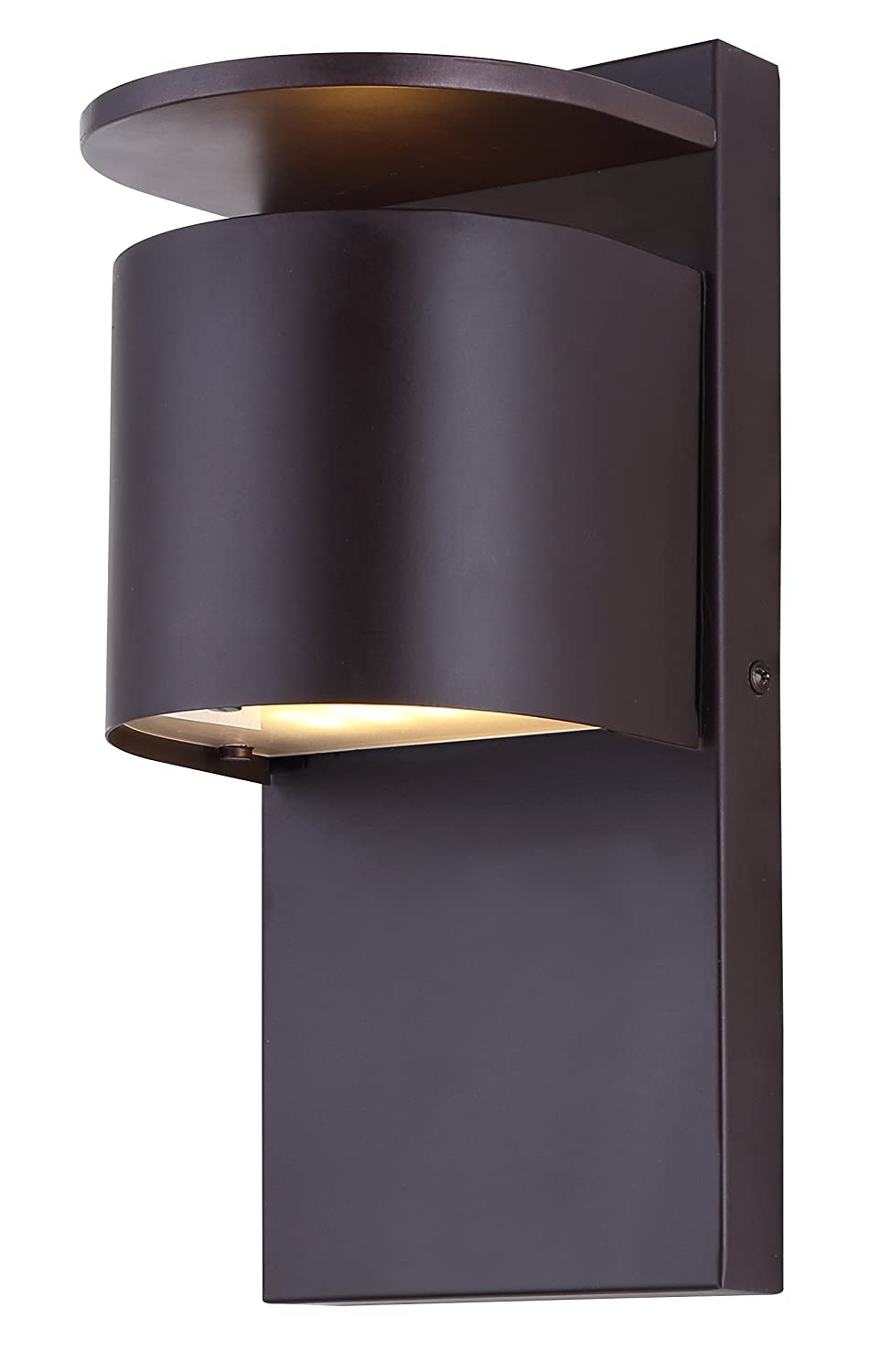 CANARM LOL284ORB LTD Notch Integrated LED Outdoor Light Oil Rubbed Bronze with Frosted Glass