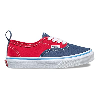 cdd56fda76707 Vans Toddler Elasitc Lace (Tri Pop) Vintage Indigo//Bonnie Blue/Rococco Red  VN0A38E8Q6J Toddler Shoes