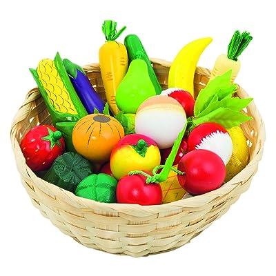 Goki Fruits et légumes dans une cagette Jouet en bois