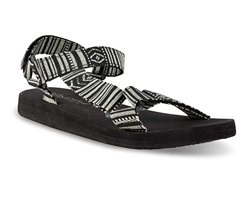 43864009c4a Twisted Women s Telly Strap Sandal - BLK White Aztec