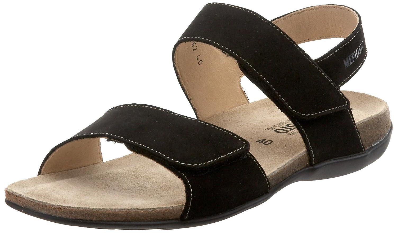 Black Bucksoft Mephisto Women's Agave Sandal