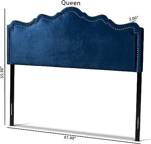 Baxton Studio Headboards, Queen, Royal Blue