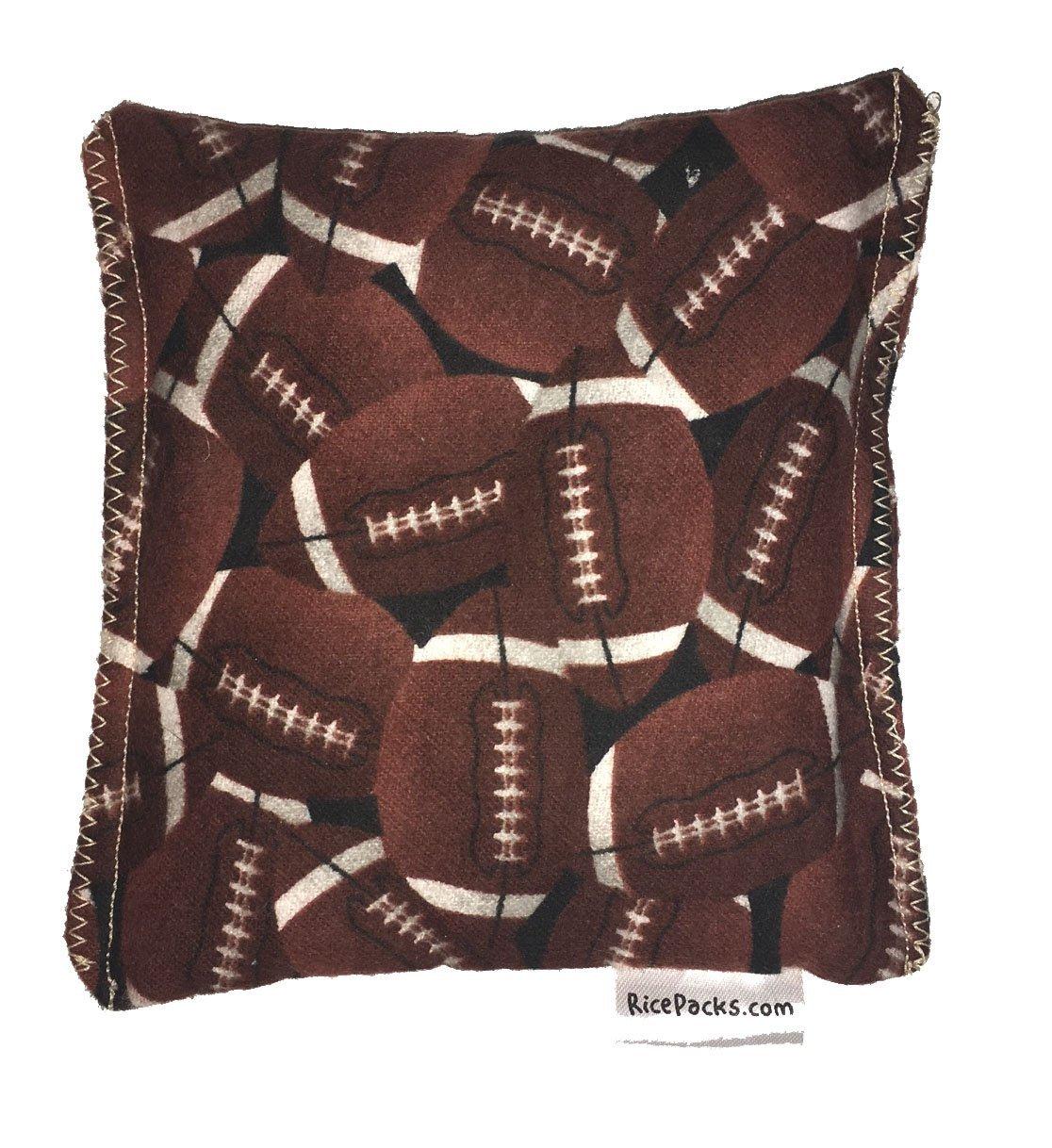 Football 2 Boo-Boo Bags Hot/Cold Packs Reusable Ouchee Heat Packs Hot Cold Pack Microwave Heating Pad Reusable Ice Pack , Hot Therapy, Cold Therapy, Rice Pack, Booboo Pillow