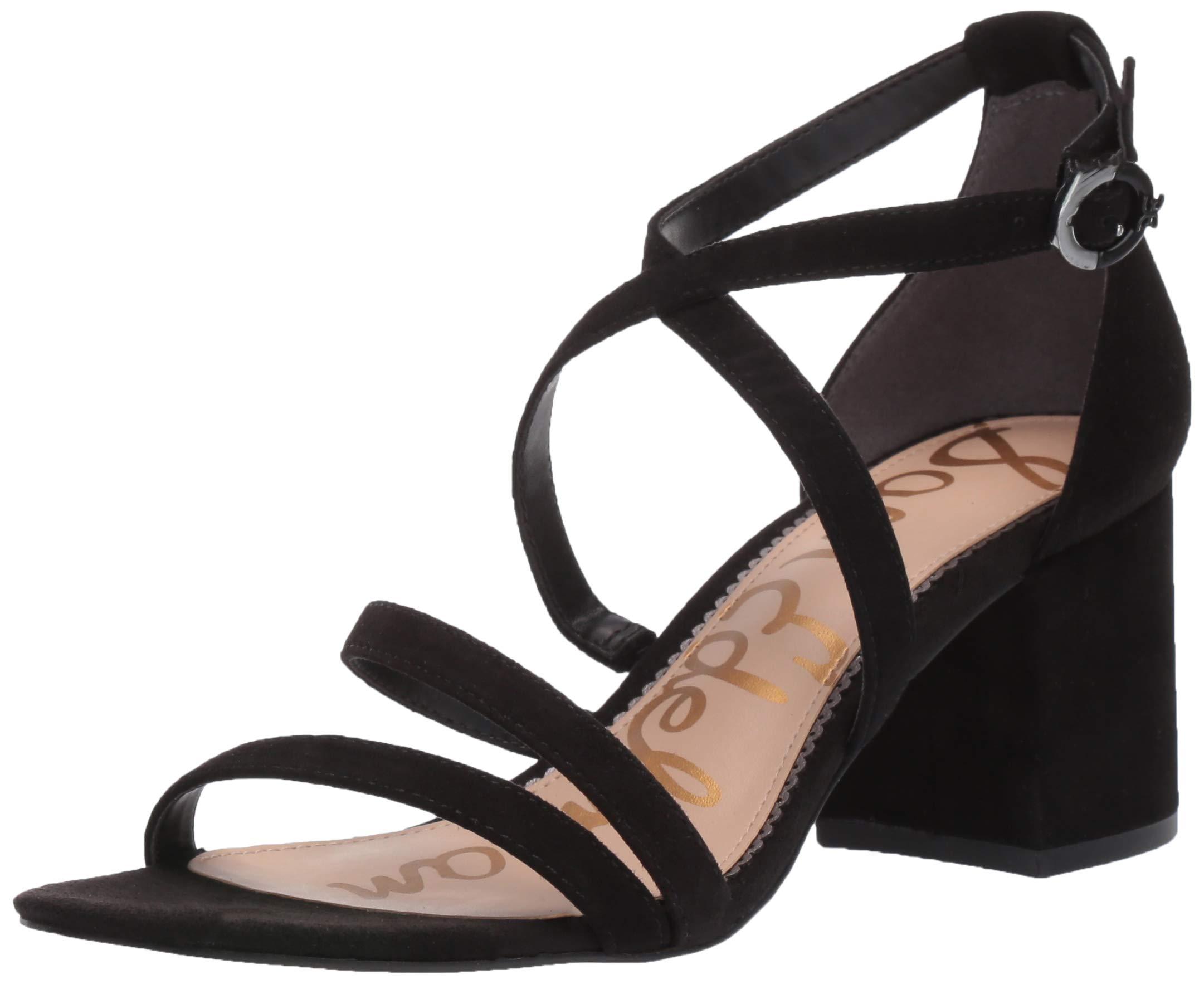 Sam Edelman Women's Stacie Sandal, Black Suede, 5.5 M US by Sam Edelman
