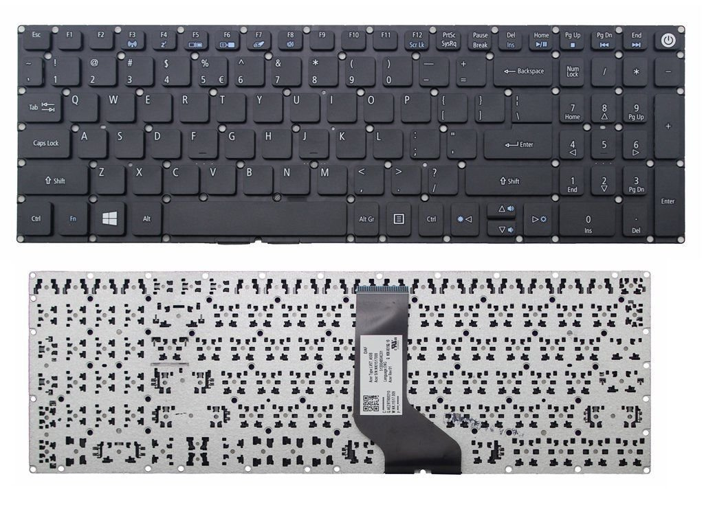 Replacement for Acer Aspire E15 E5-575 E5-575G E5-575-54FX E5-575G-55NW KENAN New US Black Laptop Keyboard Without Frame