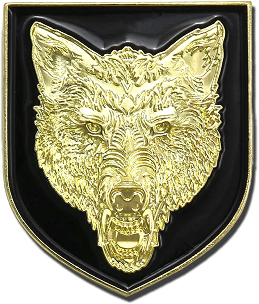 Jewelry Brooch Wolf Head Pewter Mini Lapel Pin M041MP