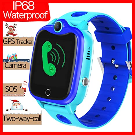 Smart Watch for Kids with GPS Tracker,Kids Phone Smart Watch Waterproof ip68 HD Touch Screen Camera SOS Game Christmas Birthday Gift for Girls Boys ...