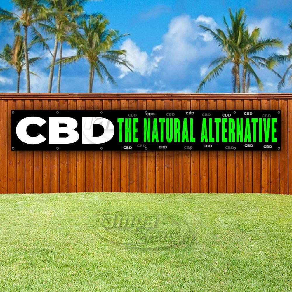 Advertising Many Sizes Available KRATOM /& CBD Sold HERE Extra Large 13 oz Heavy Duty Vinyl Banner Sign with Metal Grommets Store Flag, New