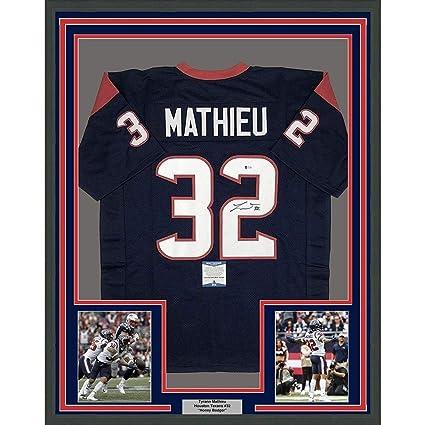 outlet store 56534 a8d5f Tyrann Mathieu Autographed Jersey - FRAMED 33x42 Blue ...