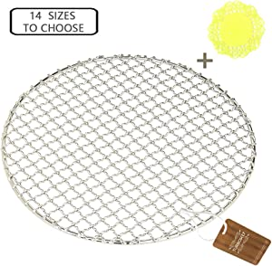 """Turbokey Cooling Rack Dia 7"""" Round Stainless Steel Cross Wire Barbecue Carbon Baking Net Grill Pan Grate for Instant Pot/Pressure Cooker/Oven (180mm/7"""")"""