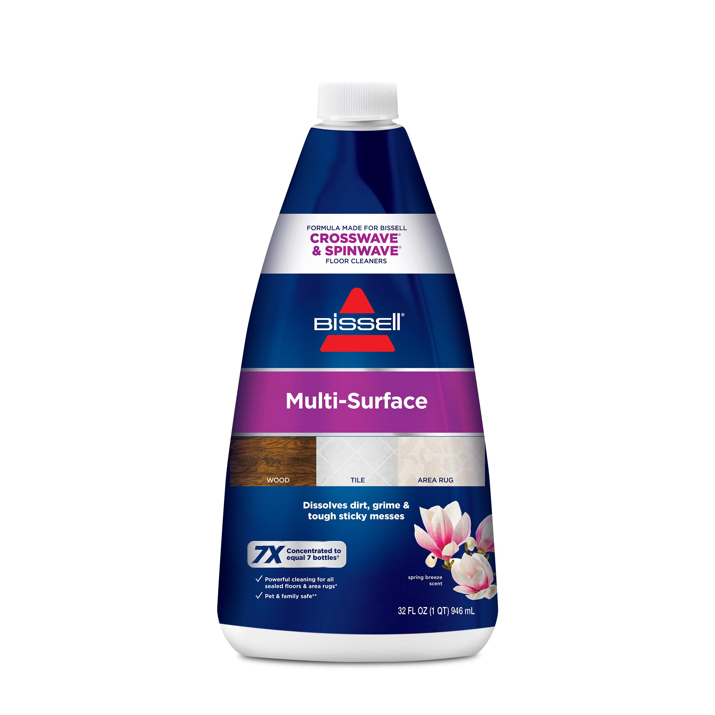 Bissell MultiSurface Floor Cleaning Formula-Crosswave and Spinwave (64 oz), 17891, Blue