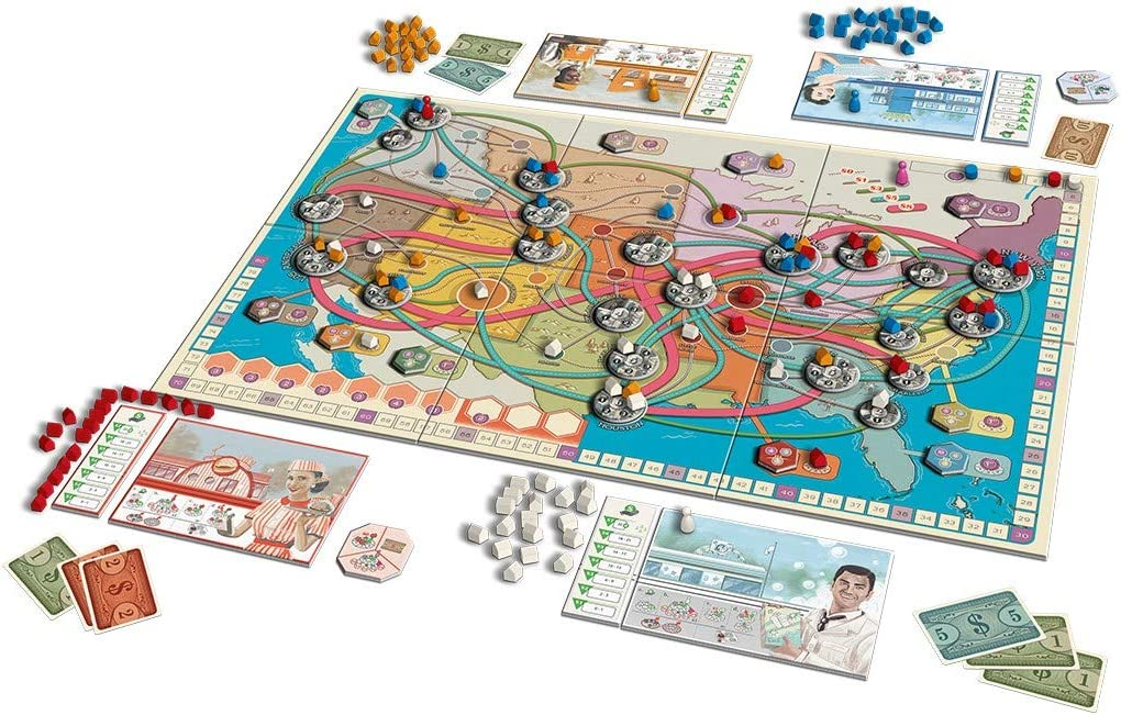Queen Games 10321 Franchise - Juego de Mesa (Contenido en alemán): Amazon.es: Juguetes y juegos