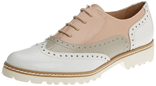Gadea 40658, Zapatos Oxford Mujer, Multicolor (Charol Blanco/Charol Grey), 37 EU: Amazon.es: Zapatos y complementos