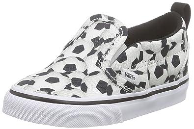 Vans - Slip-on V, Mocasines para Bebés Que ya se Tienen de pie Bebé-Niños, (Sports/Soccer/Black), 25.5 EU: Amazon.es: Zapatos y complementos