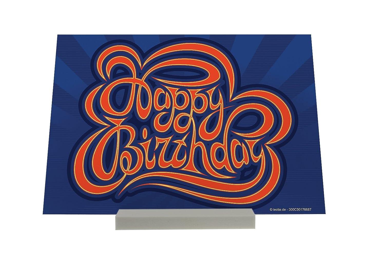Soporte Fotografias Tarjeta Cumpleaños Feliz cumpleaños Letrero: Amazon.es: Hogar