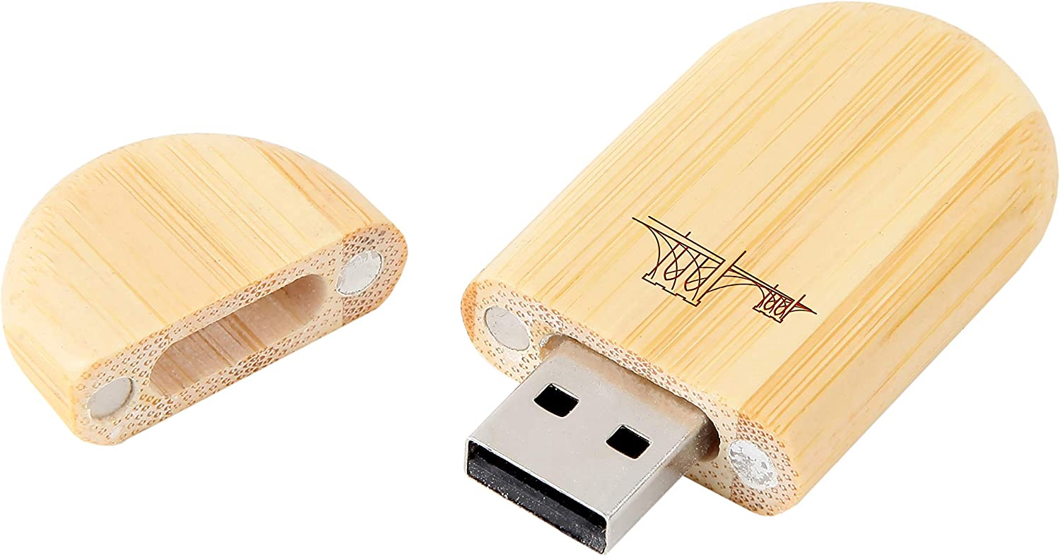 8Gb USB Gift for All Occasions Brooklyn Bridge 8Gb Bamboo USB Flash Drive with Rounded Corners Wood Flash Drive with Laser Engraving