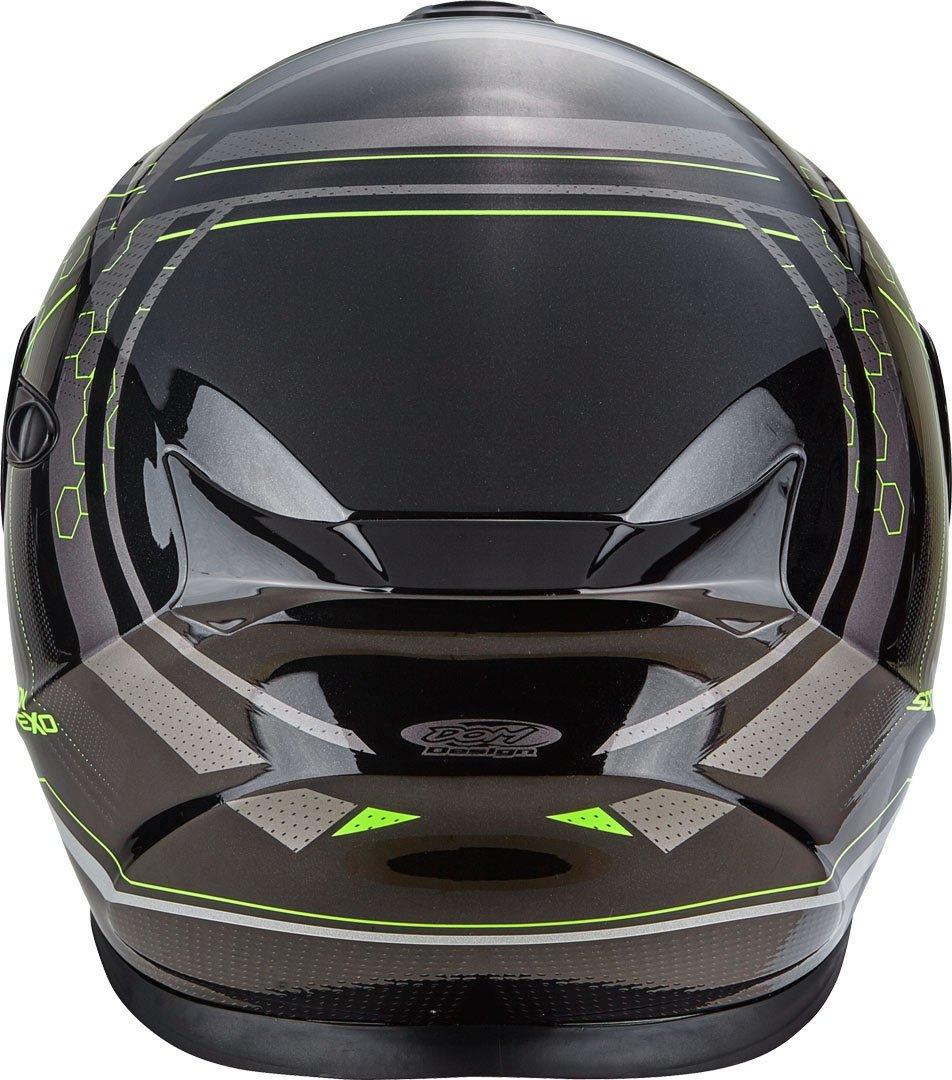 Scorpion Casco Moto EXO-920 SATELLITE Black//Neon Yellow MD