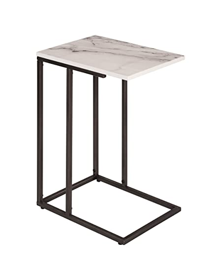 promo code 05477 beeff Amazon.com: Serta Harton C Shape Side Table, Midnight Black ...