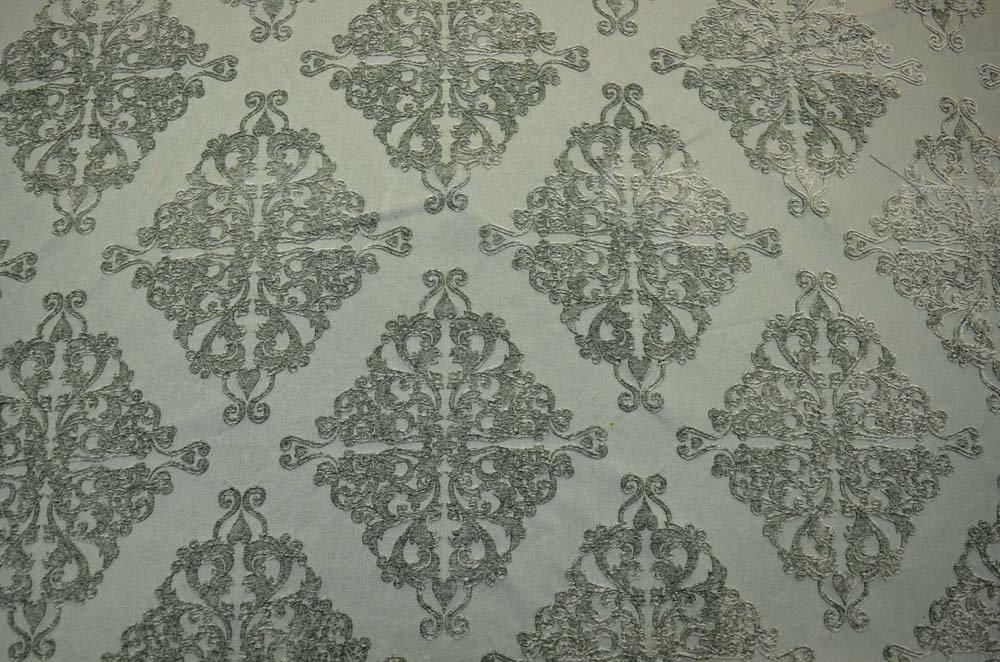 Amazon Com Seafoam Textured Chenille Damask Upholstery Mmf 6003 C