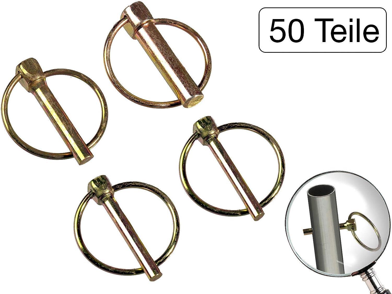 Klappsplint 6 bis 11mm und Federstecker 2 bis 5mm Set mit 50 Teilen
