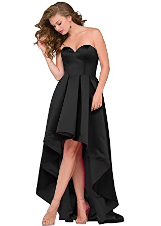 cf4ed2d4e3 Women Sweetheart High Low Prom Dresses 2018 Cocktail Evening Party Dress  Ball Gown J18 (2